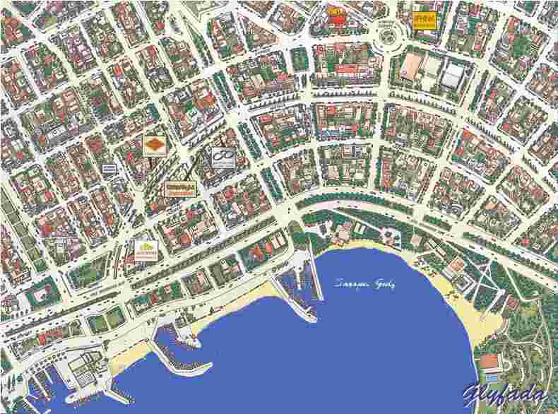 map glyfada athens area greece