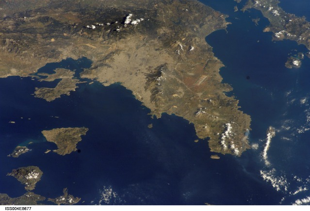 Athens Greece Satellite Imagery