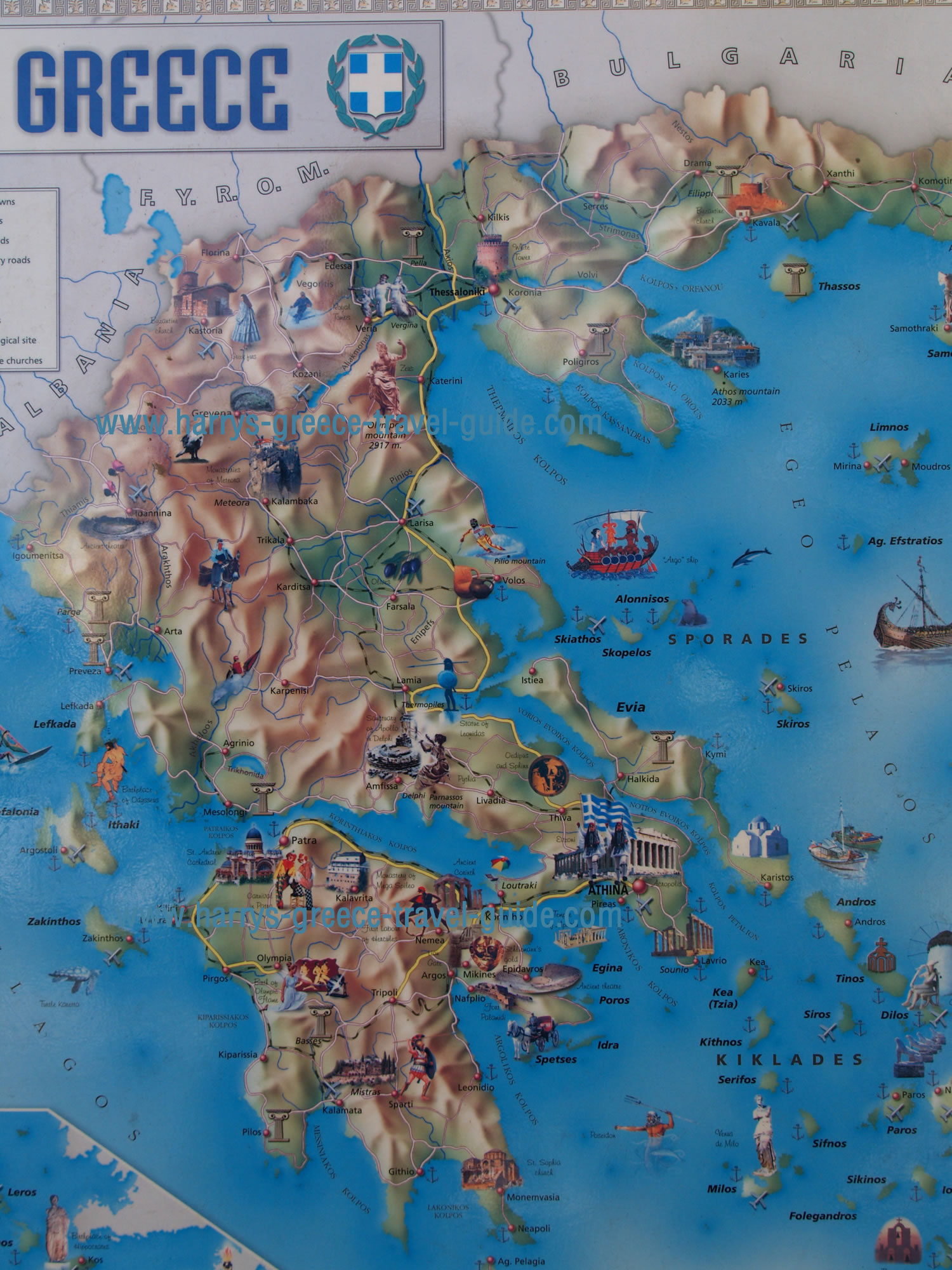 maps update greek tourist attractions map greece map