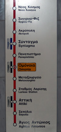 The red line acropolis route