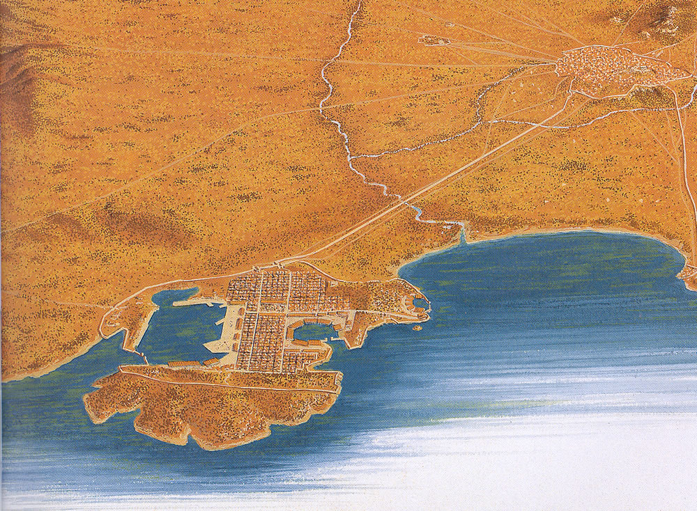 Ancient Piraeus Map Athens Main Port
