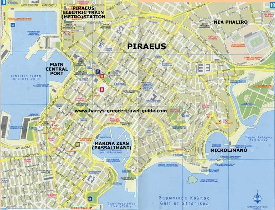 Contemporary Piraeus Map Athens Main Port