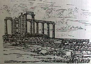 cape sounion athens temple Poiseidon
