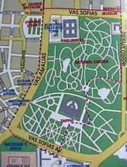 map of national gardens athens