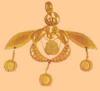 minoan bee jewelery