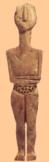 ivory figure found archanes