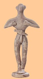 figure with dagger