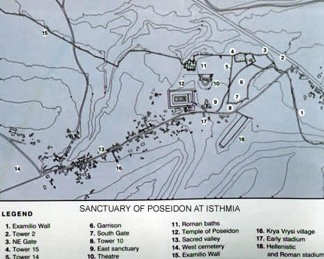 plan of the site of Isthmia