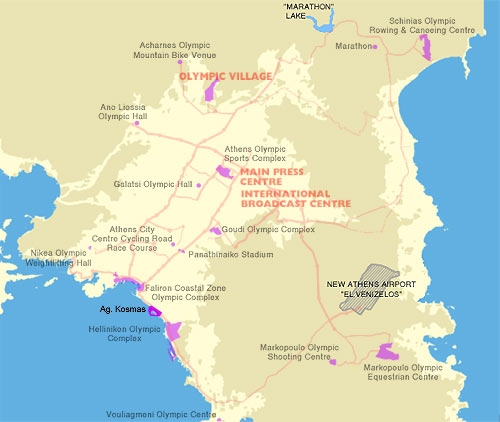 Map Olympic Centers