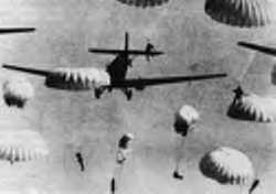German paratroopers suffered heavy losses in the first ever airborne invasion