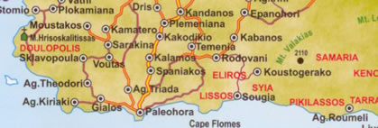 area map agia triada