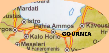 map showing gournia et al