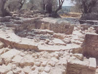 the ruins at eleftherna