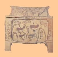 burial larnax precursor to a coffin