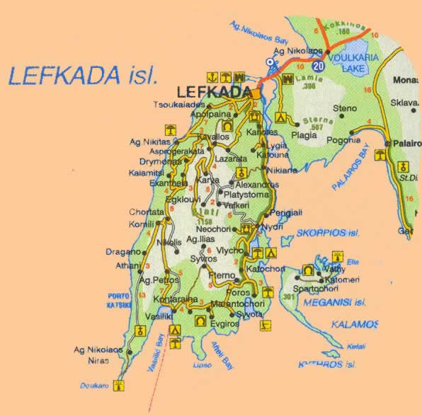 click to see   learger Lefkada map