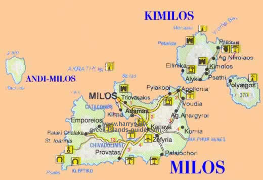 click to see larger map of milos
