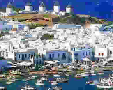 greek island of mykonos myconos