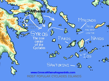 greek islands cruises map