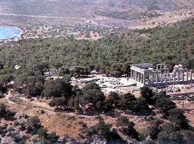 the temple from the air
