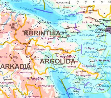 map korinths position astride isthmus