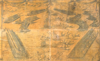 click to see larger sea battle lepanto